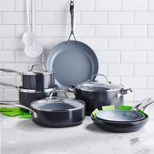 Greenpan Valencia Pro 11 Pieces Hard-Anodized Aluminum Non Stick Cookware Set