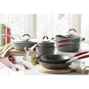 Rachael Ray Cucina Hard-Anodized Aluminum Nonstick Cookware Set